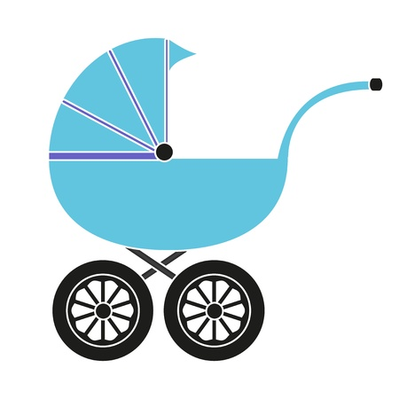 cradle: Baby carriage for the boy Illustration
