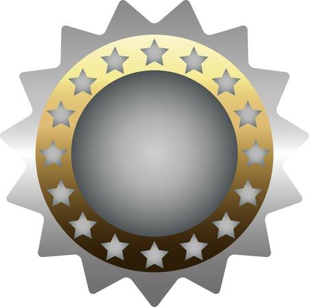 silver medal: Silver medal Illustration