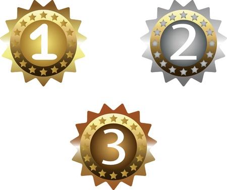 premio un conjunto de medallas