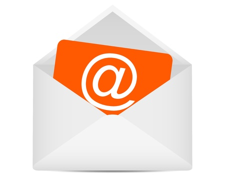 Letter to the e-mail symbol Stock Illustratie