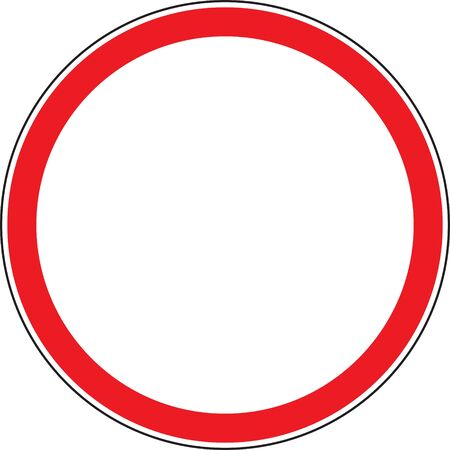 forbidding: road sign Illustration