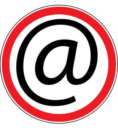permitting: computer resolving sign Illustration