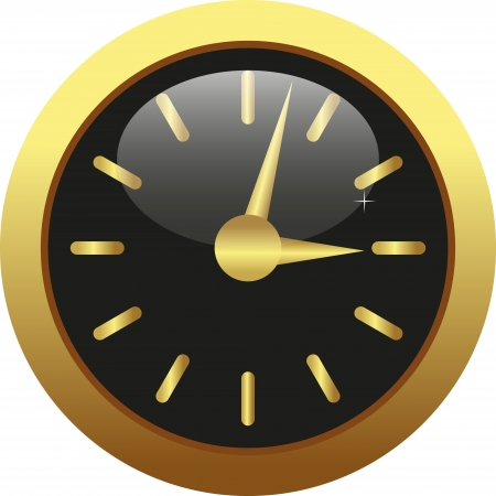 wijzerplaat: horloges Stock Illustratie