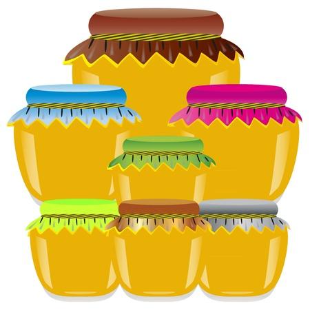jars of honey Stock Vector - 17140143