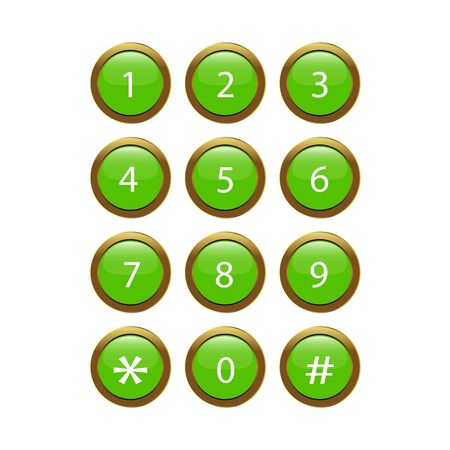 Green Phone Keypad Stock Vector - 17139866