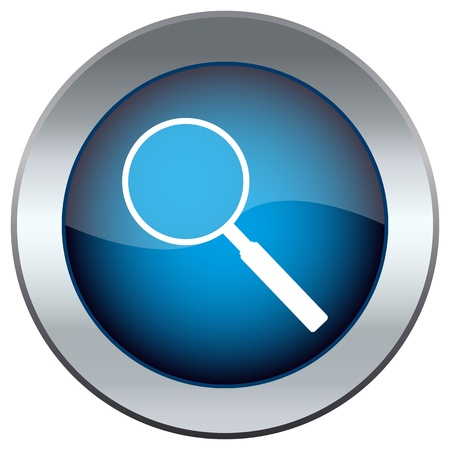magnifying glass: button with the magnifying glass Illustration