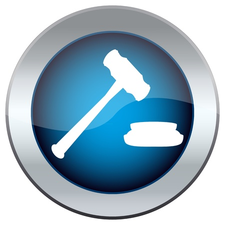 web button with the hammer, the judge Stock Vector - 17139992