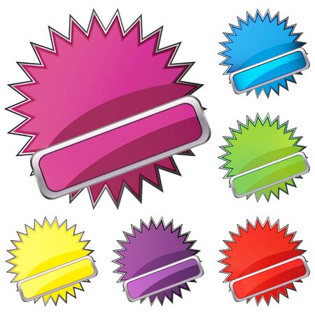set of buttons Stock Vector - 17140142