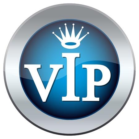 prestige: web button with the inscription  vip  Illustration