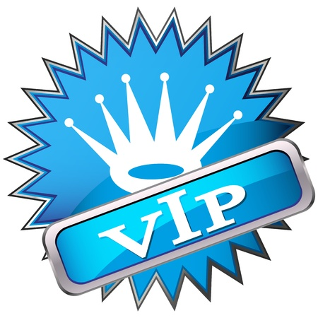 button labeled VIP Stock Vector - 17139972