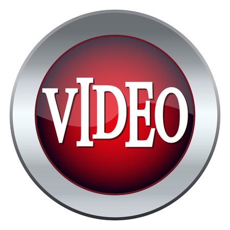 labeled: red web button labeled video Illustration