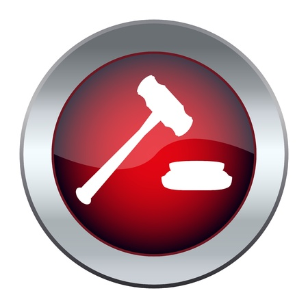 web button with the hammer, the judge Stock Vector - 17140350