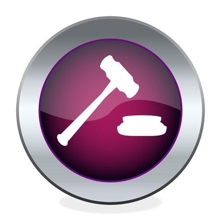 martillo juez: El bot�n con el juez martillo Vectores