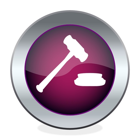 judge hammer: The button with the hammer judge