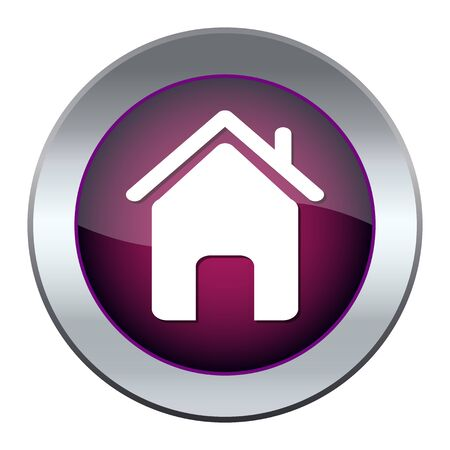 Web button with house Stock Vector - 17140426