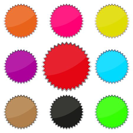 Set of colored buttons Stock Vector - 17140391