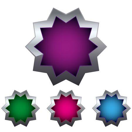 colored button Stock Vector - 17140312