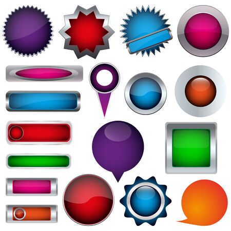 colored button Vector