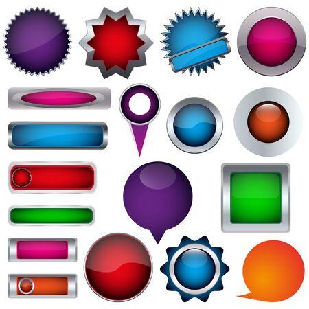 colored button Stock Vector - 17140451