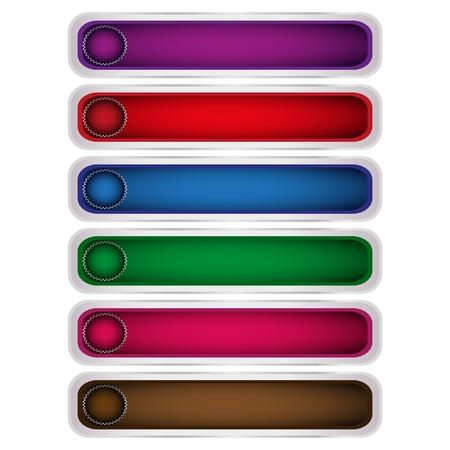 colored button Stock Vector - 17140313