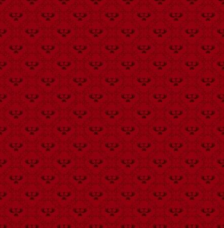 Bordeaux vintage seamless wallpaper  vector Stock Vector - 17265939