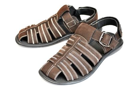 Summer men s shoes Stock Photo
