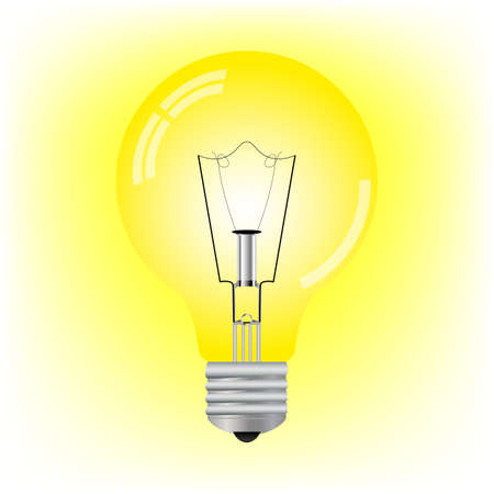 glowing light bulb Stock Vector - 17396936