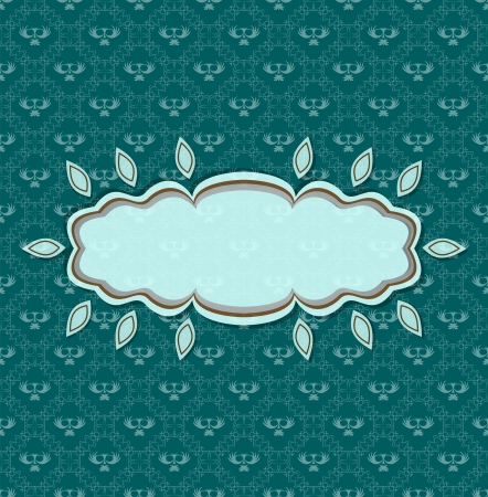 Vintage seamless background with vintage frame for text Stock Vector - 17719191