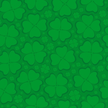 Seamless background leaf clover Stock Photo - 17723647