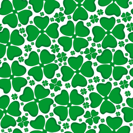 Seamless background leaf clover Stock Vector - 17726106