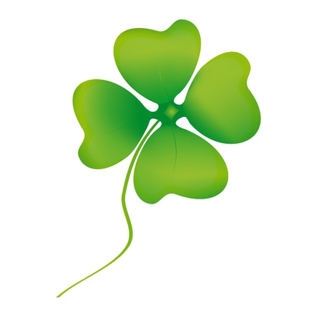Leaf clover isolated on white Stock Vector - 17766042