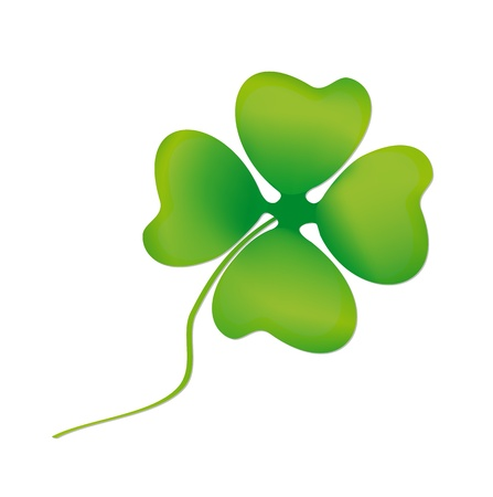 Leaf clover on white background Vector