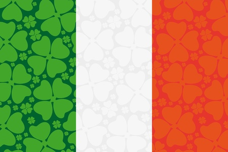 Ireland flag leaf clover Vector