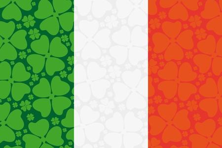 ireland flag: Ireland flag leaf clover