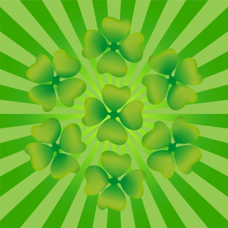 Clover symbol of St  Patrick s Day Vector