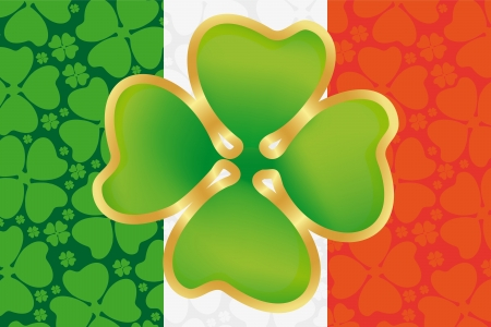St  Patrick s Day symbol on the flag of Ireland Vector