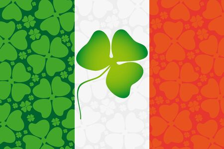 Trifoliate leaf clover on the flag of Ireland Vector
