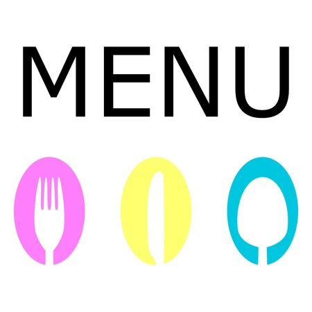 Logo for the restaurant menu Vector
