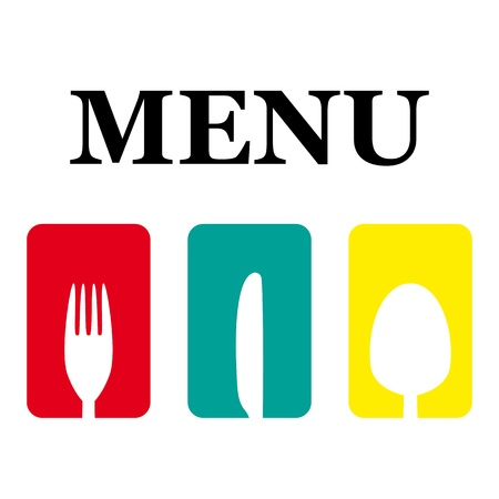 kitchen utensils: logo menu