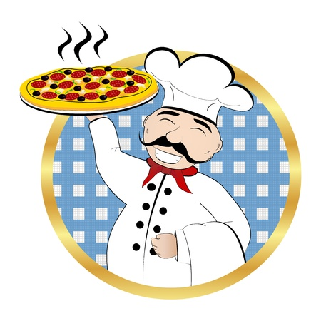 Pizza Chef Stock Vector - 18046596