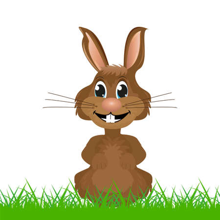 Rabbit in the grass Stock Vector - 18178227