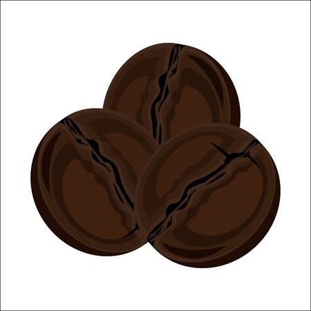 Three coffee beans Stock Vector - 18327956