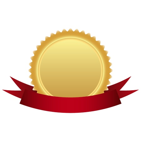 burgundy ribbon: vuota marchio d'oro di qualit� nel nastro Vettoriali