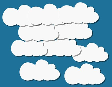 patterns of clouds of paper against the sky Stock Vector - 18748487