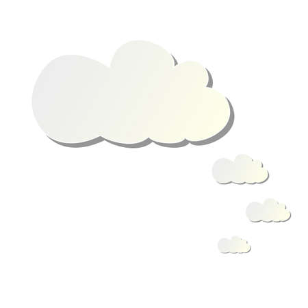 cloud patterns out of paper Stock Vector - 18748486