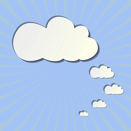 patterns of clouds of paper Stock Vector - 18748492