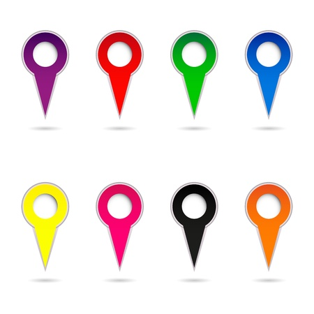 Collection of color arrows Stock Vector - 18748489