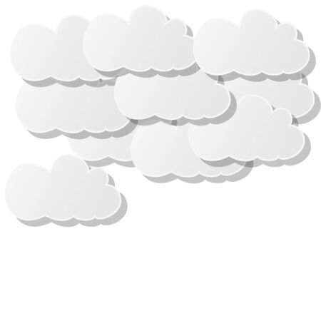 clouds of white paper on a white background Stock Vector - 18748497