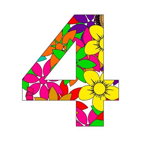 cijfer vier: nummer vier