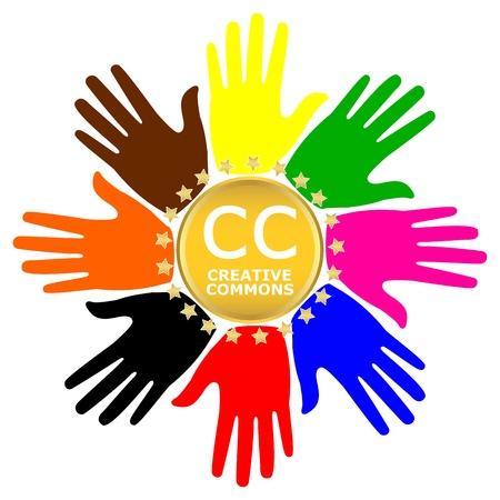 commons: Icon labeled Creative Commons Illustration